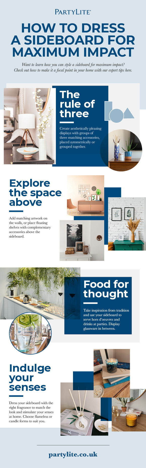 How to Dress a Sideboard for Maximum Impact infographic